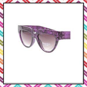 Purple & Black Retro Cat Eye Sunglasses