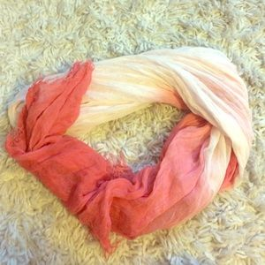 Ombré pink and white scarf
