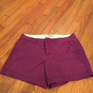 Old Navy Maroon-Purple 5' Inch Size 8 Shorts
