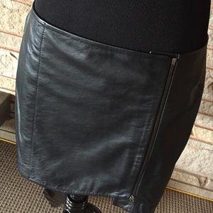 82 leith dresses skirts leith black leather skirt