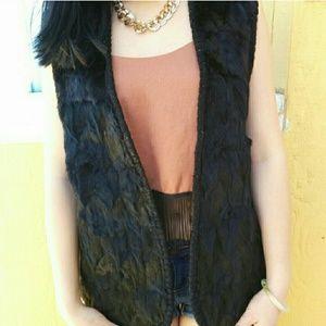 Super Soft Black Fur Vest