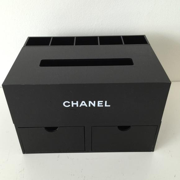 CHANEL Chanel jewelry make up box organizer black acrylic from