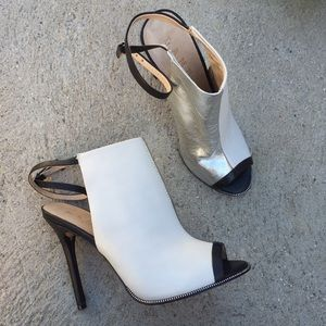 LAMB L.A.M.B SZ 7.5 COLOR BLOCK HEELS SHOES PUMPS