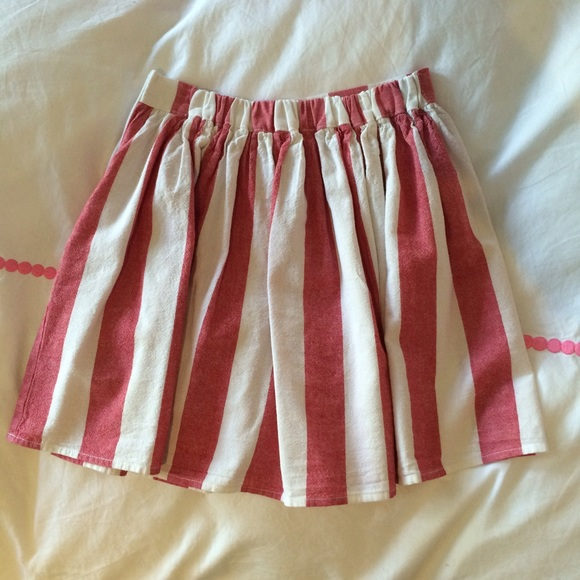 American Apparel - Red/White Striped Skirt from Casey's closet on ...