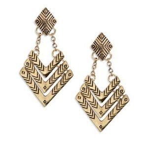 Robert Rose Jewelry - ROBERT ROSE Etched Chevron Drop Earrings