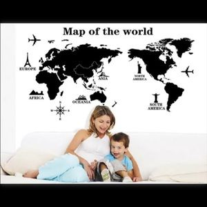 Map of the world wall decal new