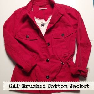 Gap Bright Red Canvas Nautical Jacket⚓️❤️