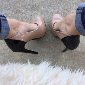 Nude & Black Restricted Heels
