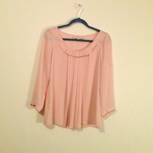 Ann Taylor loft - blush colored top XS