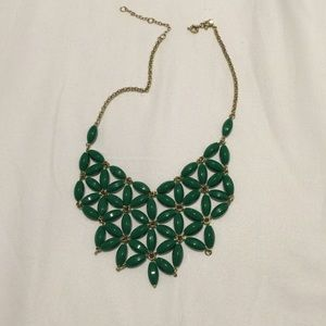 Jcrew green adjustable necklace