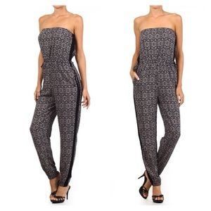 LDB Other - Price Drop!!🆕Aztec Strapless Jumpsuit