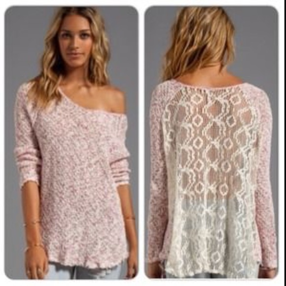 75% off Free People Sweaters - Free people poppyseed lace back ...