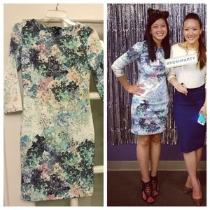 H&M Dresses & Skirts - White floral bodycon dress