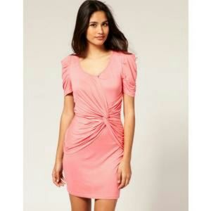 Asos twisted front dress