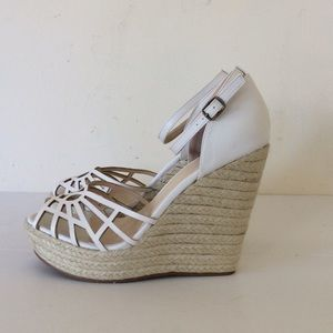 Charlotte Russe white wedge sandals 9