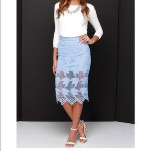 JOA powder blue lace skirt size XS