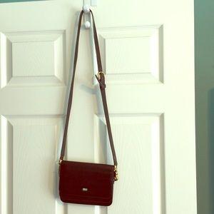 Black Buxton Leather Cross body Handbag Purse