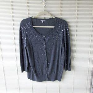 Halogen Button Sweater