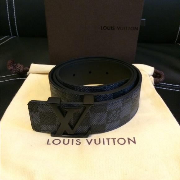 3c437199433a6 Louis Vuitton Accessories - Louis Vuitton graphite damier belt