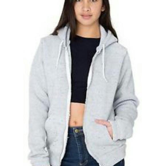 3c956b675c5fe8 American Apparel Jackets & Blazers - American apparel white confetti hoodie