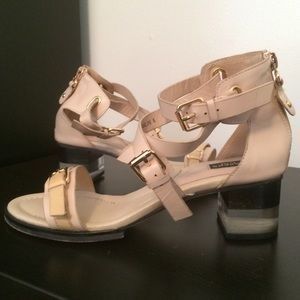 Nude strappy sandals