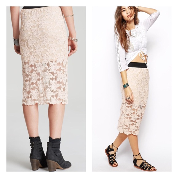 49% off Free People Dresses & Skirts - free people // lace pencil ...