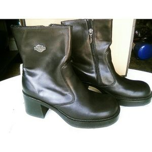 Harley Davidson motorcycle boots.