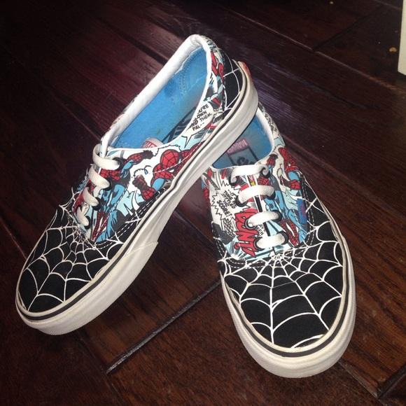 vans shoes spiderman