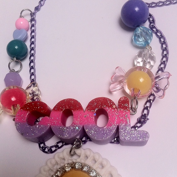 niftyvintagenecklace.com Jewelry - Reserved girl pizza necklace kawaii couture cool