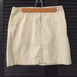 J Crew chino mini skirt. Size 8
