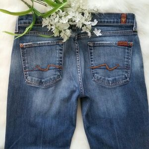 7 for all Mankind Denim - 7 for all Mankind Faded Bootcut Jeans