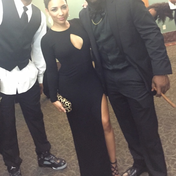 Asos Dresses Semi Formal Black Gown Poshmark