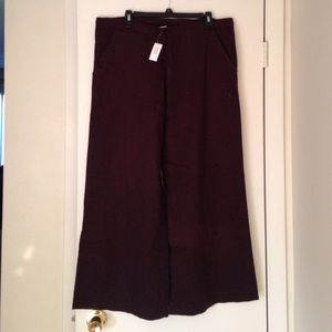 BR choc brown, linen draw-string pants. Size S.
