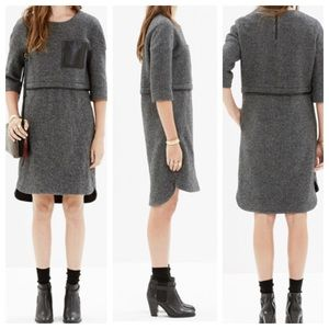 Madewell Leather Pocket Installation Dress