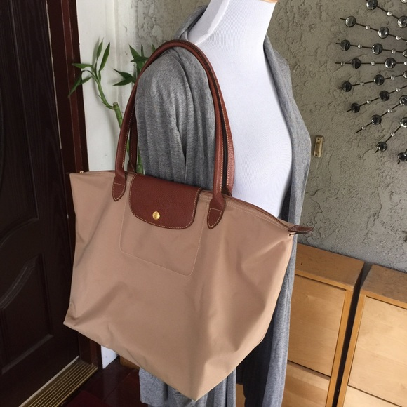 Longchamp Handbags - Longchamp le pliage brown large foldable tote bag c47fc42bad