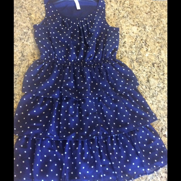 Cherokee - Navy white polka dots girls dress size 14/16 XL from ...