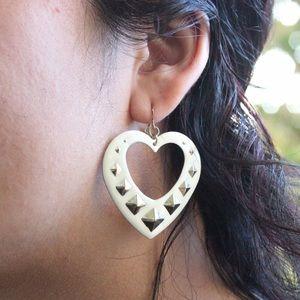Forever 21 Heart Studded Earrings