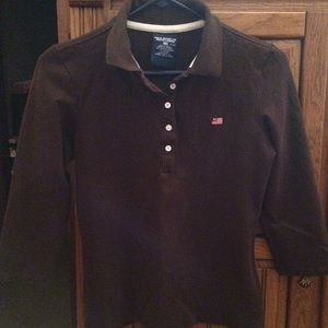 Ralph Lauren brown polo shirt sz S