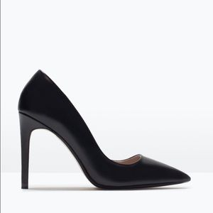 Zara Leather Court Heels NWT
