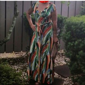 Dresses & Skirts - Wrap Maxi GREEN
