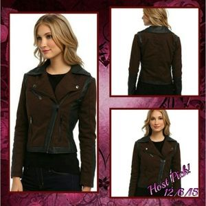 Dollhouse Jackets & Blazers - 💕HP!💕NWT - Asymmetrical Zip moto-inspired jacket