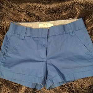 "J. Crew Sky Blue Broken In 3"" Chino Shorts"