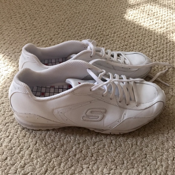73 skechers shoes skechers white tennis shoes from