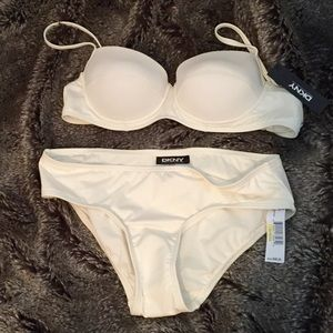 DKNY Ivory Push-Up Retro Bikini
