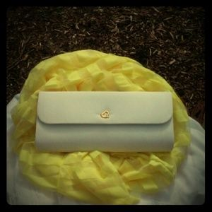 Friday Night Sale  White Clutch
