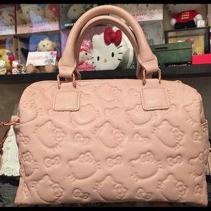 b197c195ad Hello Kitty Bags - Dusty Pink Hello Kitty Embossed Crossbody
