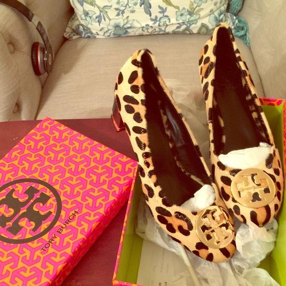 Tory Burch Amy Leopard Pump Heels