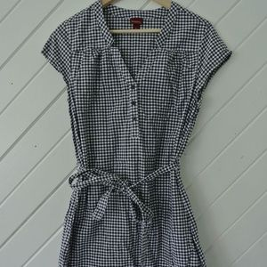 Navy gingham shift dress, Merona