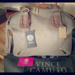 Vince Camuto Annette Large Snakeskin Satchel Bag
