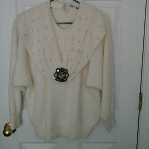 Womens White Cashmere Sweater Cashmere Sweater Off White